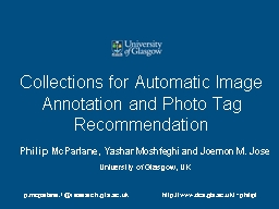 Collections for Automatic Image Annotation and Photo Tag Re