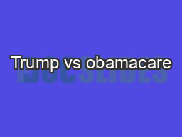 Trump vs obamacare