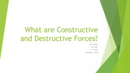 What are Constructive and Destructive Forces?
