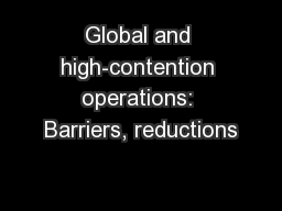 Global and high-contention operations: Barriers, reductions