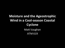 Moisture and the Ageostrophic Wind in a Cool-season Coastal