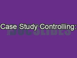 Case Study Controlling:
