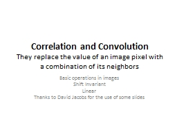 Correlation and Convolution