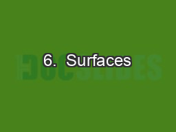6.  Surfaces