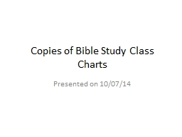 Copies of Bible Study Class Charts