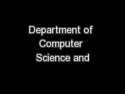 Department of Computer Science and