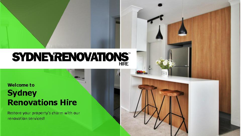 Kitchen and Bathroom Renovations Sydney - Sydney Renovations Hire