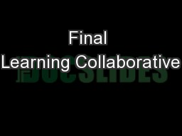 Final Learning Collaborative
