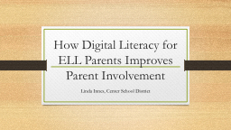How Digital Literacy for ELL Parents Improves Parent Involv