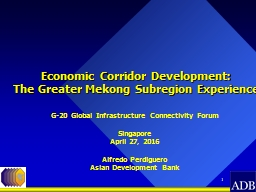 1 Economic Corridor Development: