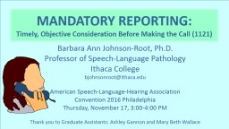 Barbara Ann Johnson-Root, Ph.D. PowerPoint PPT Presentation