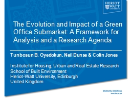 The Evolution and Impact of a Green Office Submarket: A Fra
