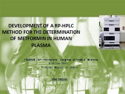 DEVELOPMENT OF A RP-HPLC METHOD FOR THE DETERMINATION OF ME PowerPoint PPT Presentation