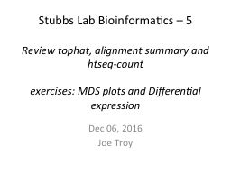 Stubbs Lab Bioinformatics –