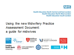 Using the new Midwifery Practice Assessment Document: