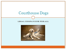 legal Companions for all PowerPoint PPT Presentation