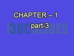 CHAPTER – 1    part-3