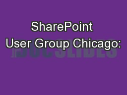 SharePoint User Group Chicago: