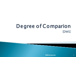 Degree of Comparion