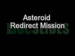 Asteroid Redirect Mission