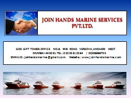 JOIN HANDS MARINE SERVICES PVT.LTD.