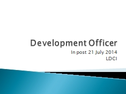 Development Officer