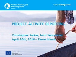 PROJECT ACTIVITY REPORTING