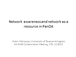 Network awareness and network as a PowerPoint PPT Presentation