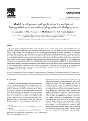 Model development and application for surfactant  biodegradation in an acclimatising activated sludge system