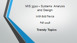 MIS 3510 – Systems Analysis PowerPoint PPT Presentation