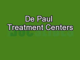 De Paul Treatment Centers