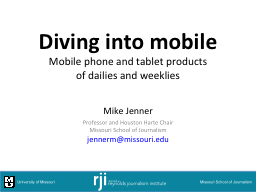 Diving into mobile