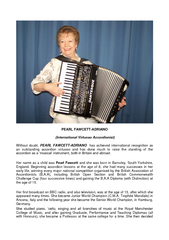 PEARL FAWCETT ADRIANO International Virtuoso Accordion PowerPoint PPT Presentation