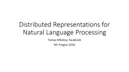 Distributed Representations for