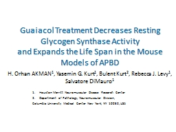 Guaiacol Treatment Decreases Resting Glycogen Synthase Acti