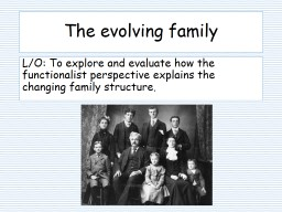 Social Policy and the Family