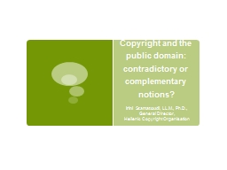 Copyright and the public domain: