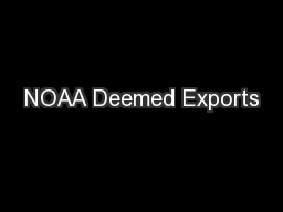 NOAA Deemed Exports