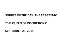 Source of the day: the