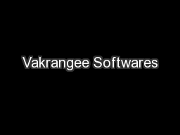 Vakrangee Softwares