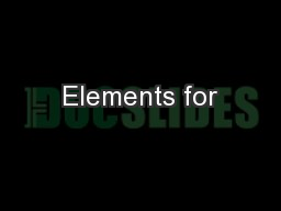 Elements for