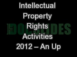 ATIS Intellectual Property Rights Activities 2012 – An Up