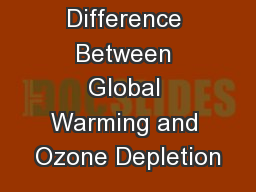 The Difference Between Global Warming and Ozone Depletion