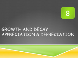 Growth And Decay PowerPoint PPT Presentation