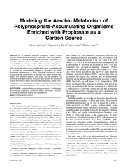 Modeling the Aerobic Metabolism of PolyphosphateAccumu