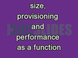 Offspring size, provisioning and performance as a function