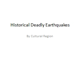 Historical Deadly Earthquakes PowerPoint PPT Presentation