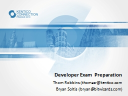 Developer Exam Preparation
