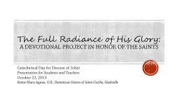 The Full Radiance of His Glory: