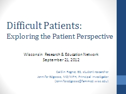 Difficult Patients: